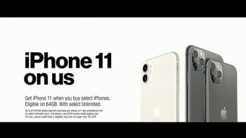 Verizon Unlimited TV Spot, 'Unlimited Built Right: iPhone 11 BOGO' - Thumbnail 7