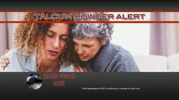 Talcum Powder Alert TV Spot, 'Cancer Diagnosis' - Thumbnail 1