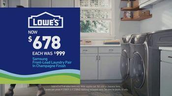 Lowe's TV Spot, 'Essentials: Samsung Laundry Pair' - Thumbnail 9