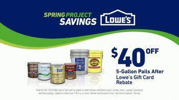Lowe's Spring Project Savings TV Spot, 'Making Stains History: Valspar Signature Paints' - Thumbnail 10