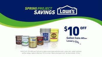 Lowe's Spring Project Savings TV Spot, 'Making Stains History: Valspar Signature Paints' - Thumbnail 8