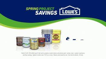 Lowe's Spring Project Savings TV Spot, 'Making Stains History: Valspar Signature Paints' - Thumbnail 9