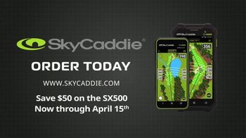 Sky Caddie SX500 and SX400 TV Spot, 'Accurate Yardages: Save $50' - Thumbnail 10