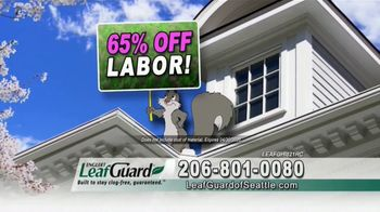 LeafGuard Seattle Spring Blowout Sale TV Spot, 'Messy Spring Chore' - Thumbnail 3