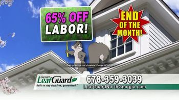 LeafGuard of North Georgia Spring Blowout Sale TV Spot, 'Clogged Open-Top Gutters' - Thumbnail 6