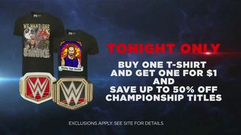 WWE Shop TV Spot, 'Join the Universe: Buy One, Get One Shirts for $1 & Up To 50 Percent Off Titles' Song by Krissie Karlsson - Thumbnail 9