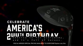 Parsons Xtreme Golf TV Spot, 'Happy Birthday USA: PXG for Heroes Special Pricing' ft. Pat Perez - Thumbnail 3