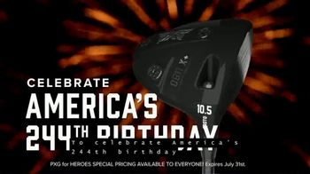 Parsons Xtreme Golf TV Spot, 'Happy Birthday USA: PXG for Heroes Special Pricing' ft. Pat Perez - Thumbnail 4