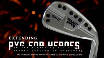 Parsons Xtreme Golf TV Spot, 'Happy Birthday USA: PXG for Heroes Special Pricing' ft. Pat Perez - 61 commercial airings