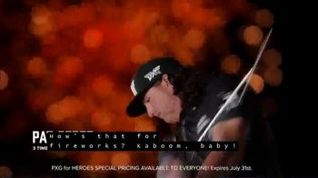 Parsons Xtreme Golf TV Spot, 'Happy Birthday USA: PXG for Heroes Special Pricing' ft. Pat Perez - Thumbnail 8