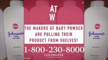 Goldwater Law Firm TV Spot, 'Talcum Powder Products: Ovarian Cancer' - Thumbnail 1