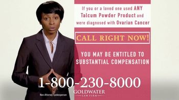 Goldwater Law Firm TV Spot, 'Talcum Powder Products: Ovarian Cancer' - Thumbnail 5