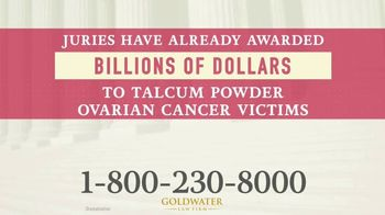 Goldwater Law Firm TV Spot, 'Talcum Powder Products: Ovarian Cancer' - Thumbnail 6
