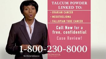 Goldwater Law Firm TV Spot, 'Talcum Powder Products: Ovarian Cancer' - Thumbnail 8