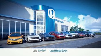 Honda TV Spot, 'Certified Pre-Owned: Inspected and Certified' [T2] - Thumbnail 1