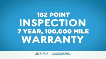 Honda TV Spot, 'Certified Pre-Owned: Inspected and Certified' [T2] - Thumbnail 4