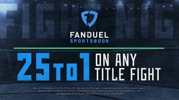 FanDuel Sportsbook TV Spot, 'Fight Night: 25 to One'