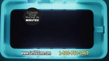 Sharper Image UV-Zone Phone Sanitizer TV Spot, 'Don't Let Bacteria Harm You' - Thumbnail 7