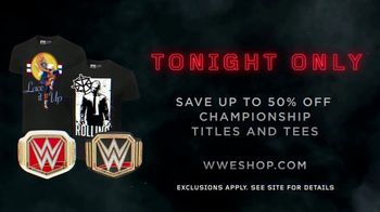 WWE Shop TV Spot, 'Crafted by History: 50 Percent Off' - Thumbnail 8