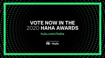 Hulu TV Spot, '2020 HAHA Awards: Archer' - Thumbnail 8