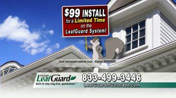 LeafGuard of Colorado $99 Install Sale TV Spot, 'Give Up Gutter Cleaning Forever' - Thumbnail 6