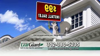 LeafGuard of Chicago $99 Install Sale TV Spot, 'Overflowing Gutters' - Thumbnail 3