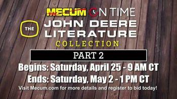 Mecum On Time TV Spot, 'John Deere Literature Collection: Part Two' - Thumbnail 1