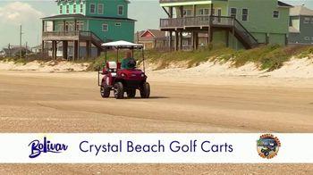 Bolivar Peninsula Tourism and Visitors Center TV Spot, 'Crystal Beach Golf Carts' - Thumbnail 1