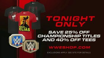 WWE Shop TV Spot, 'Energize Your Style: 25% Off Championship Titles & 40% Off Tees' Song by Easy McCoy - Thumbnail 7