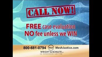 Wright & Schulte, LLC TV Spot, 'Mesh Justice'