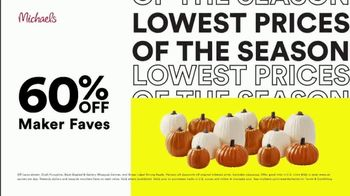 Michaels Lowest Prices of the Season Sale TV Spot, 'Select Frames, Fall and Halloween Decor' - Thumbnail 3