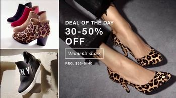 Macy's One Day Sale TV Spot, 'Women's Shoes, Apparel, EFFY Jewelry'
