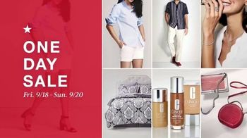 Macy's One Day Sale TV Spot, 'Bedding Sets and Martha Stewart Collection' - Thumbnail 1
