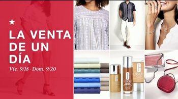 Macy's Venta de Un Día TV Spot, 'Zapatos, ropa y diamantes' [Spanish] - Thumbnail 1