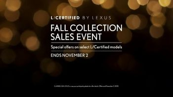Lexus Fall Collection Sales Event TV Spot, 'Fall in Love' [T1] - Thumbnail 8