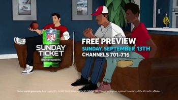 DIRECTV NFL Sunday Ticket TV Spot, 'Long Distance Relationships: Free Preview' Song by Motley Crue - Thumbnail 9