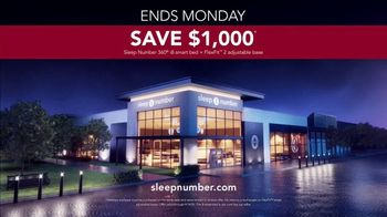 Sleep Number Biggest Sale of the Year TV Spot, 'Ends Monday: Snoring: $1,000' - Thumbnail 6