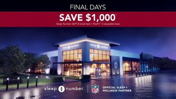 Sleep Number Biggest Sale of the Year TV Spot, 'Ends Monday: Snoring: $1,000' - Thumbnail 5