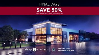 Sleep Number Biggest Sale of the Year TV Spot, 'Final Days: Snoring: 0% Interest for 24 Months' - Thumbnail 7