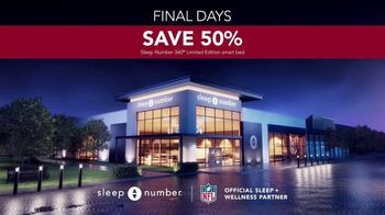 Sleep Number Biggest Sale of the Year TV Spot, 'Final Days: 50% Off and Special Financing' - Thumbnail 7
