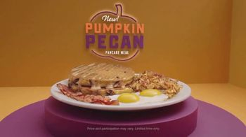 Denny's Pumpkin Pecan Pancake Meal TV Spot, 'You've Waited All Year' Song by Elastic Hoofbeats - Thumbnail 10