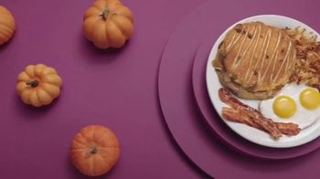 Denny's Pumpkin Pecan Pancake Meal TV Spot, 'You've Waited All Year' Song by Elastic Hoofbeats - Thumbnail 3