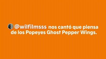 Popeyes Ghost Pepper Wings TV Spot, 'El usuario @wilfilmsss' [Spanish] - Thumbnail 1