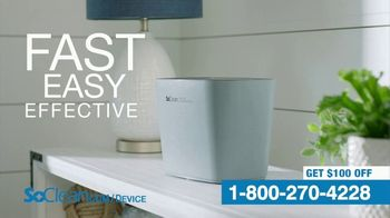 SoClean Device Disinfector TV Spot, 'Activated Oxygen: $100 Off' - Thumbnail 2