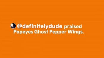 Popeyes Ghost Pepper Wings TV Spot, 'Definitely Dude' - Thumbnail 1