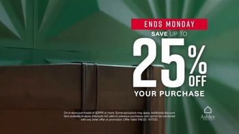 Ashley HomeStore Labor Day Sale TV Spot, 'Final Days: 25% Off and Financing' - Thumbnail 4