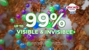 Cascade Platinum + OXI TV Spot, 'As Clean as Possible: 99% Visible and Invisible Food Residue'