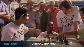DIRECTV Cinema TV Spot, 'Critical Thinking' - 12 commercial airings