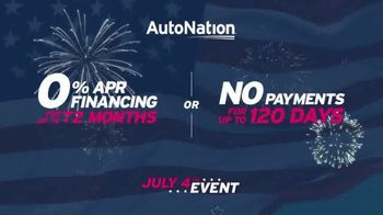 AutoNation July 4th Event TV Spot, 'Freedom From Payments' - Thumbnail 7