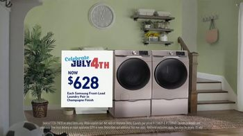 Lowe's TV Spot, 'Celebrate July 4th: Samsung Laundry Pair' - Thumbnail 4